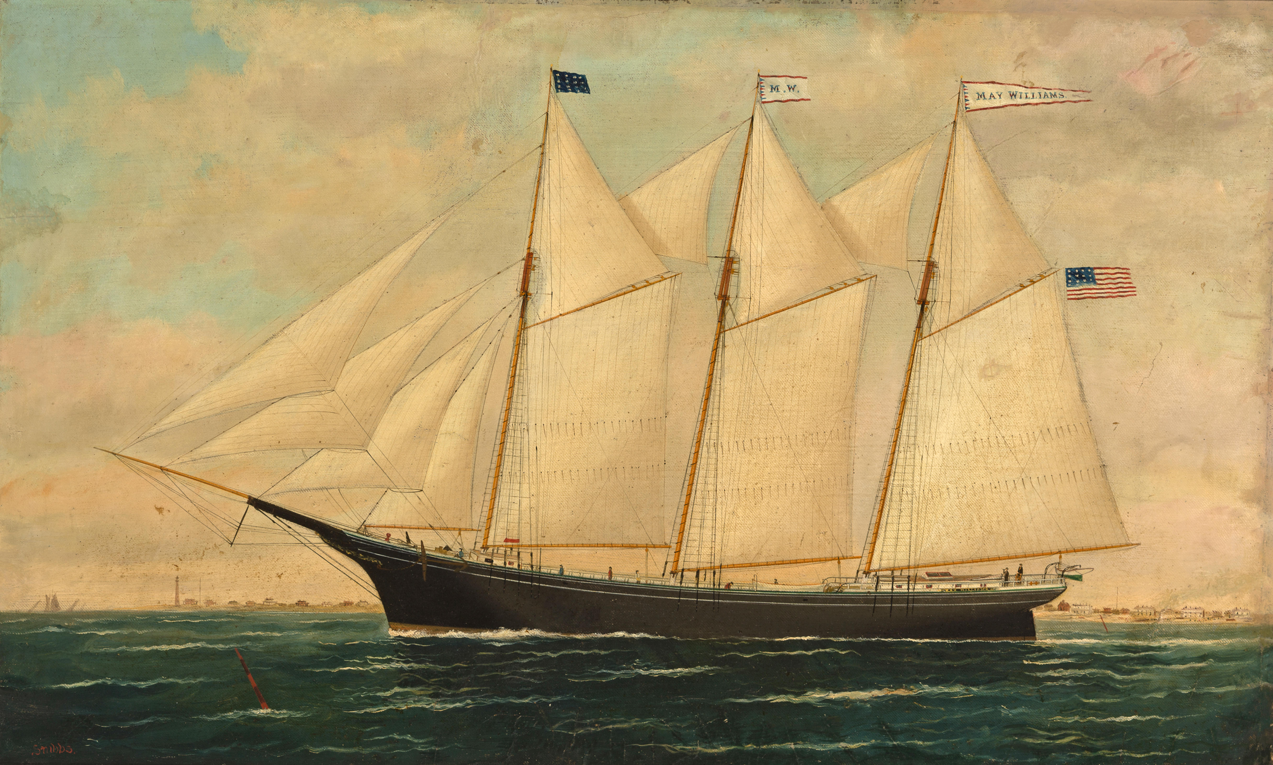 Lumberman three masted schooner